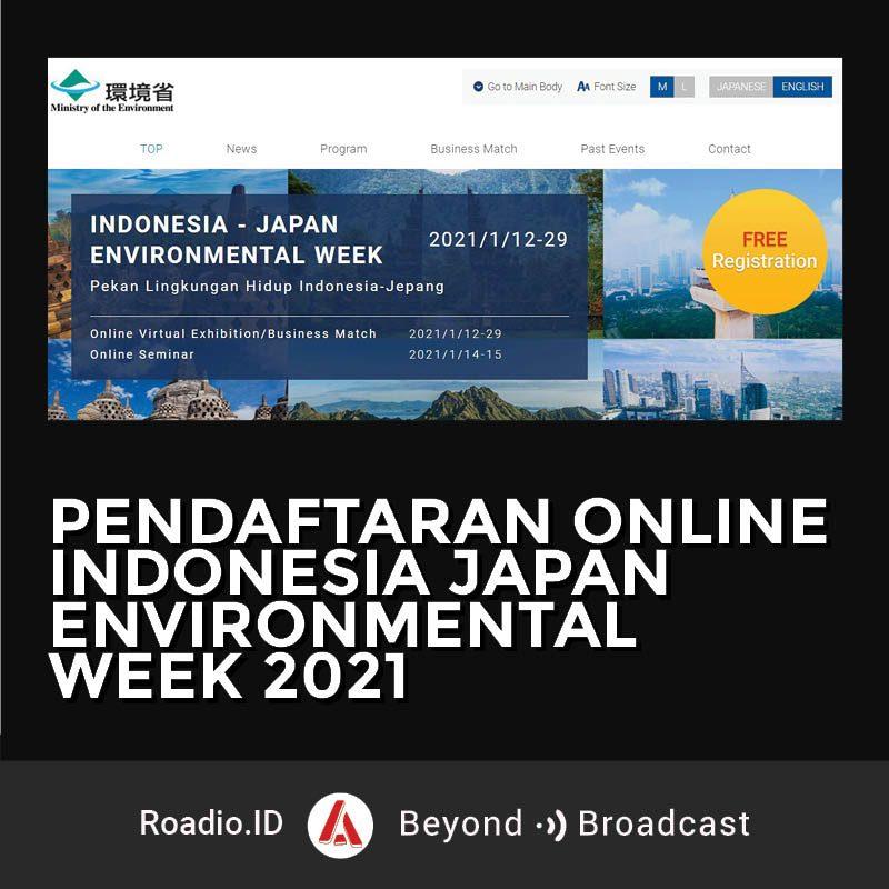 Pendaftaran Indonesia Japan Environmental Week