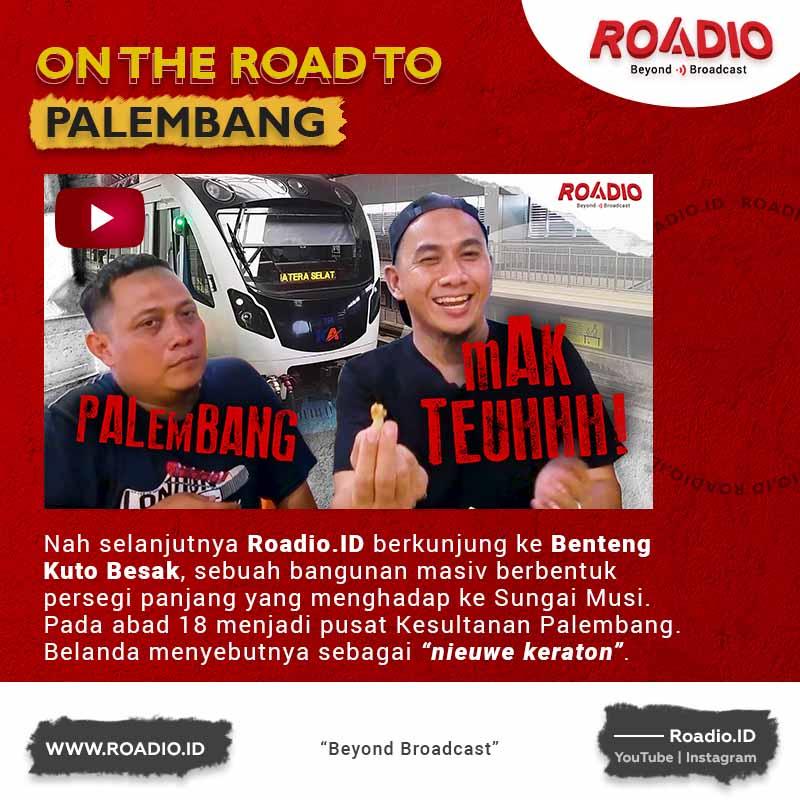 Roadio.ID goes to Palembang, perjalanan perdana.